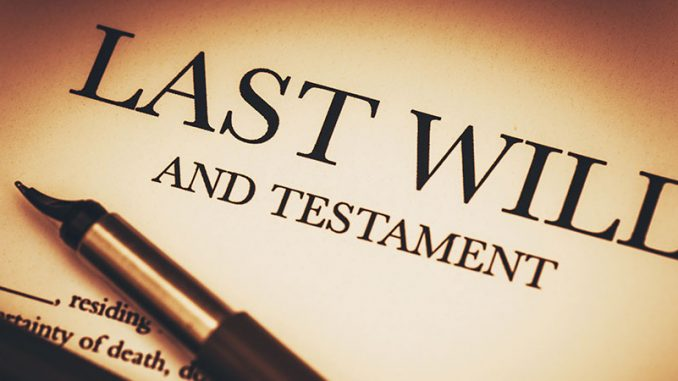 Image result for LAST WILL AND TESTAMENT OF